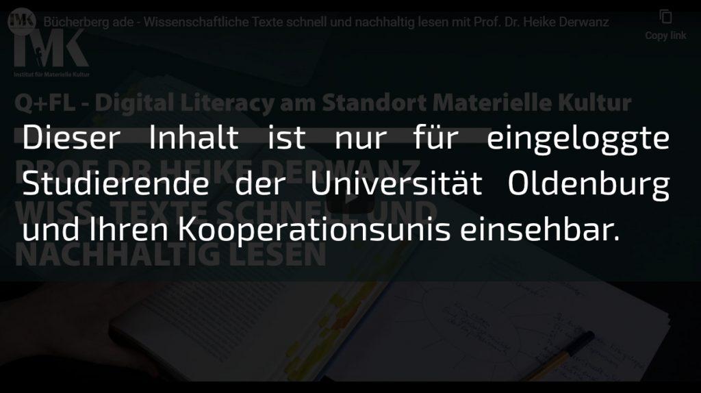Dieser Inhalt ist nur für eingeloggte Studierende der Universität Oldenburg oder Ihrer Kooperationsunis abrufbar.